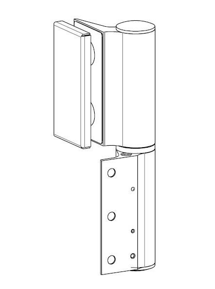 Balama hidraulica Biloba EVO Frame cu blocare 90°/180° fixare pe toc aluminiu 1