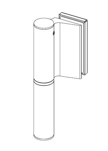 Balama hidraulica Biloba EVO SOL Frame fara blocare fixare pe toc aluminiu 1