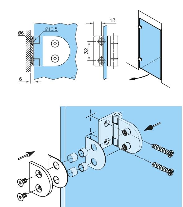 Balama perete/sticla usa armonica [2]