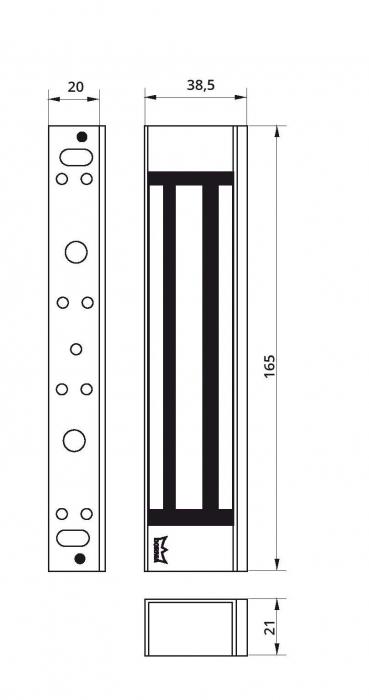 Broasca electromagnetica Dorma EM 1800 AH 2
