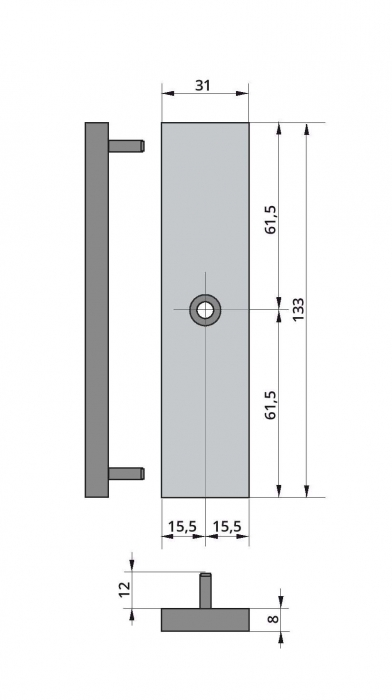 Broasca electromagnetica Dorma EM 1800 AH 1