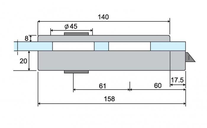 Broasca ovala fara incuiere usa sticla 8-10 mm 4