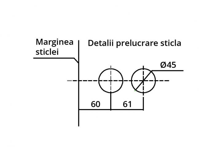 Broasca ovala fara incuiere usa sticla 8-10 mm 3