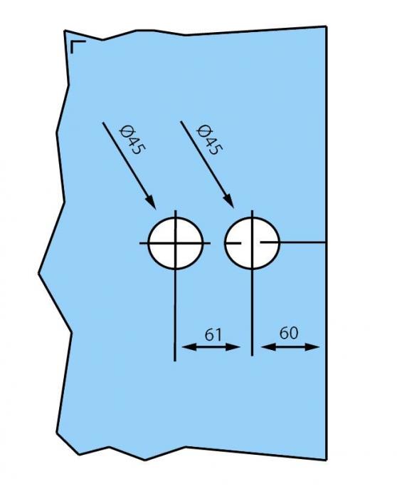 Broasca pentru cilindru usa sticla 8-10 mm [2]