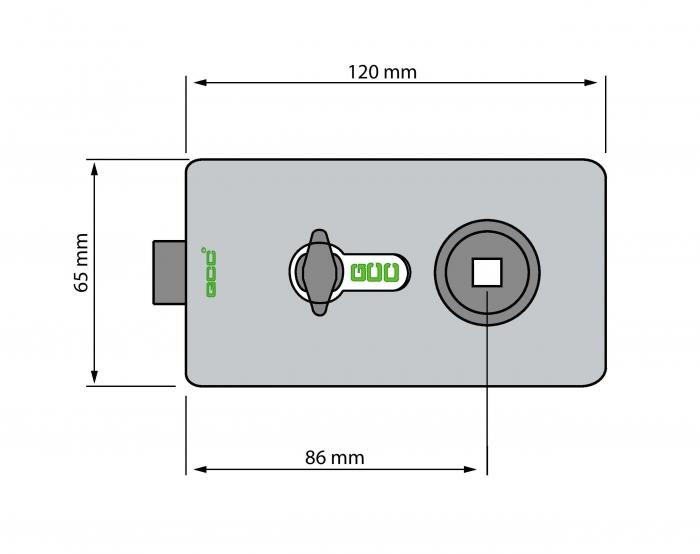 Broasca rectangulara pentru cilindru usa sticla 8-12 mm 2