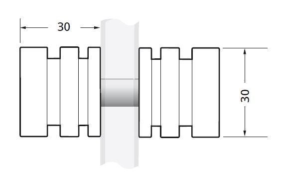 Buton usa cabina dus sticla 6-12 mm 1