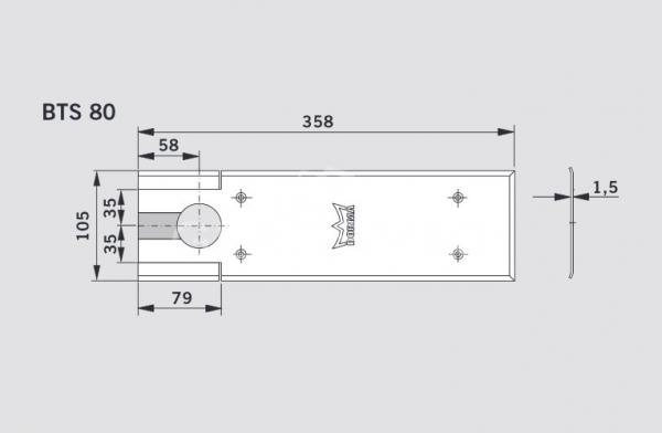 Capac acoperire amortizor pardoseala BTS80 1