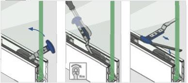 Cheie Q-disc® montaj cale/garnituri profil U balustrada Easy Glass® Smart 1