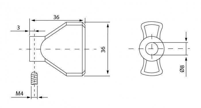 Cilindru baie Dorma pentru broasca usa sticla 8-10 mm 2