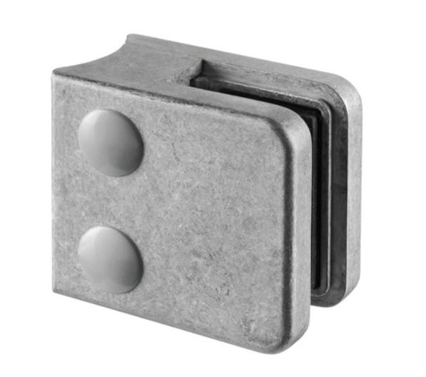 Clema MOD 21 fixare pe rotund pentru montant balustrada sticla 6-10 mm 0