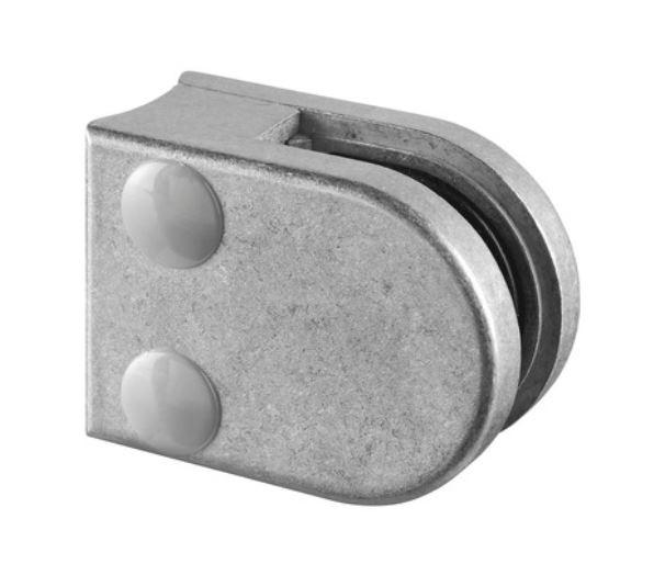 Clema MOD 20 fixare pe rotund pentru montant balustrada sticla 6-8 mm 0