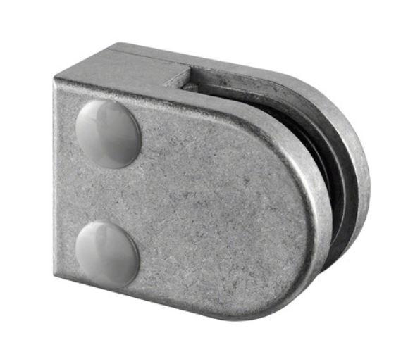 Clema MOD 20 fixare pe drept pentru montant balustrada sticla 6-8 mm 0