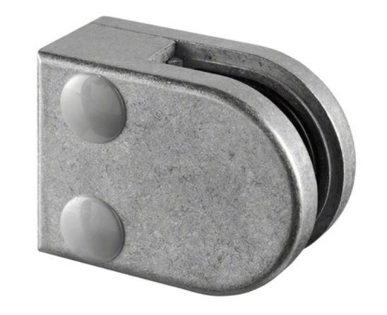 Clema MOD 27 fixare pe drept pentru montant balustrada sticla 8,76-10,76 mm 0