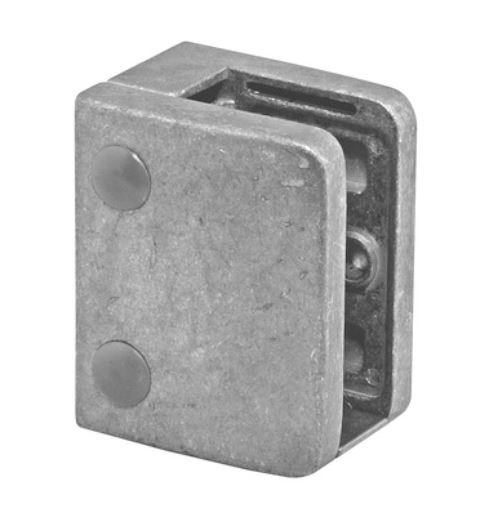 Clema MOD 24 fixare pe drept pentru montant balustrada sticla 9,52-17,52 mm 0