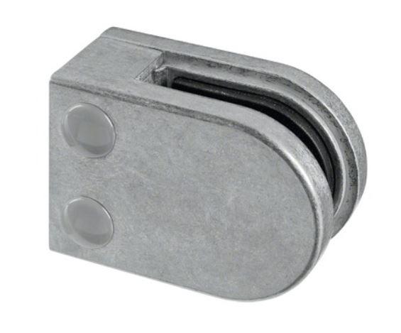 Clema MOD 22 fixare pe drept pentru montant balustrada sticla 6-10 mm 0