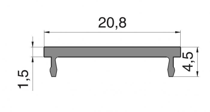 Clips toc Dorma Alexa 45, L=6000 mm 1