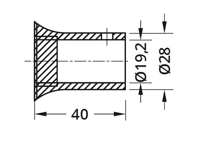 Conector bara stabilizare cabina dus teava/perete 1