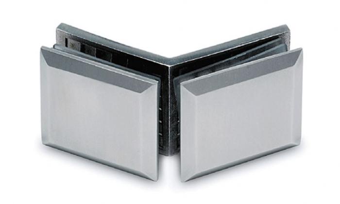 Conector cabina dus sticla/sticla 135° 0