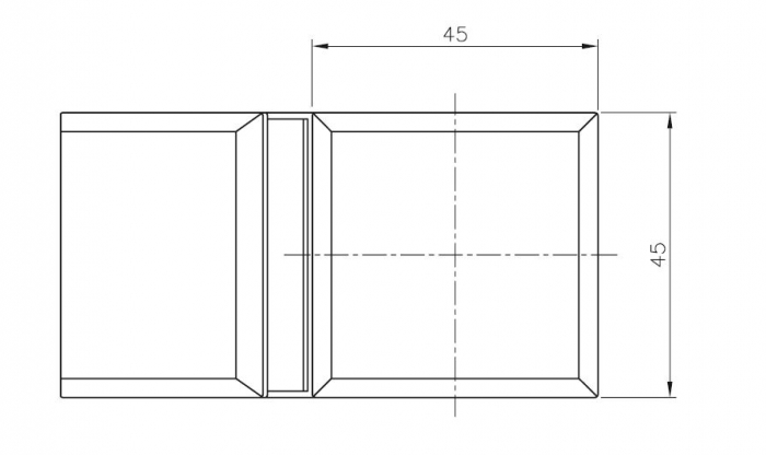 Conector cabina dus sticla/sticla 135° 1