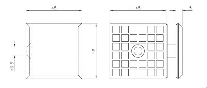 Conector cu talpa cabina dus perete/sticla 90° 1