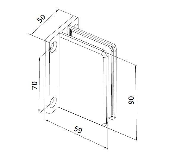 Conector Dorma cabina dus perete/sticla S1000 SHH 306 1