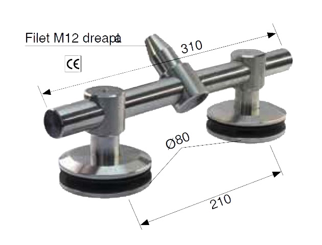Conector dublu 1xtija/2xsticla 21,52-25,52 mm 1