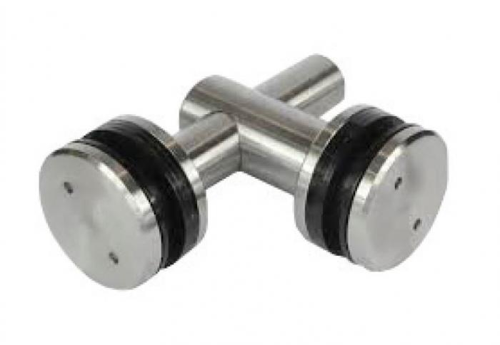 Conector dublu reglabil la 90° sticla/sticla 8-12 mm 0