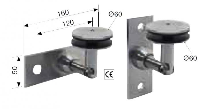 Conector inferior perete/sticla 17,52-21,52 mm [1]