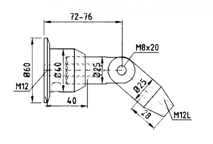 Conector superior perete/tija copertina 1