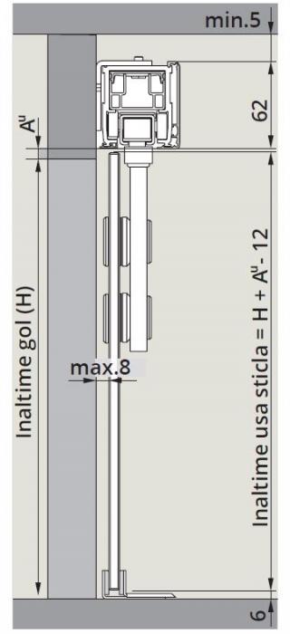 CS80 Magneo Dorma cu sistem glisare Manet montaj perete 1