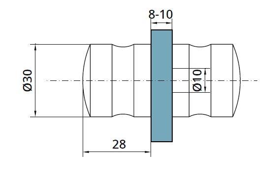 Buton PH102 usa cabina dus sticla 8-10 mm [1]