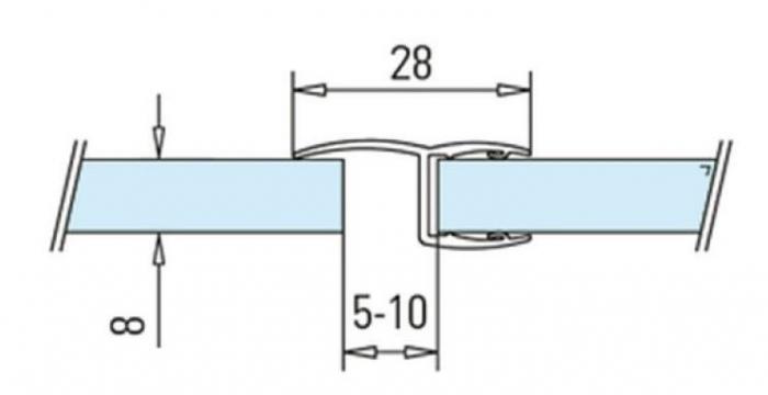 Garnitura cu banda la 180° cabina dus sticla 8-10 mm [1]
