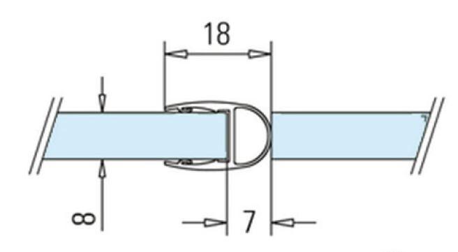 Garnitura tip A(balon) cabina dus sticla 8-10 mm 1