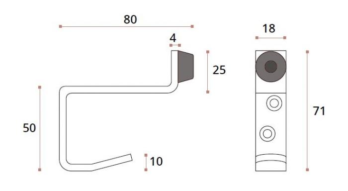 Opritor usa/cuier dublu compartimentare toaleta 1