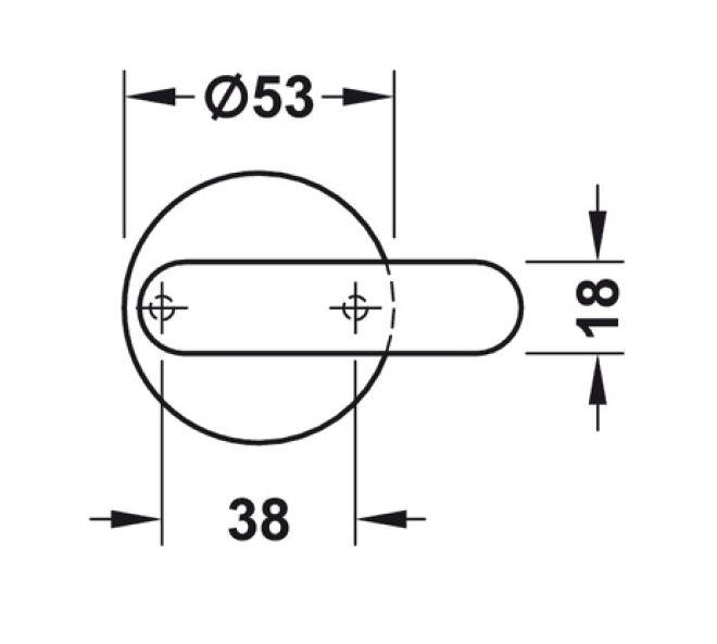 Incuietoare toaleta sticla/HPL 10-13 mm [1]