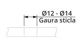 Maner rectangular, 40x10 mm 2