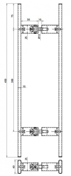 Maner rectangular, 40x10 mm 1