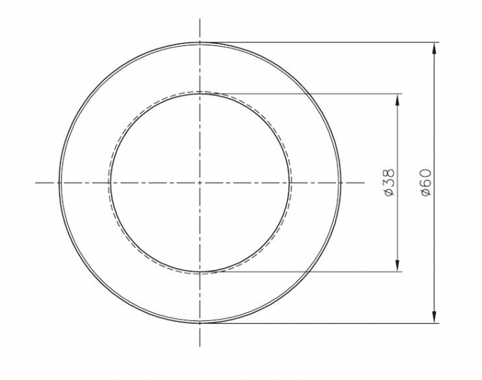 Maner scoica Ø60 mm, sticla 8-12 mm 1