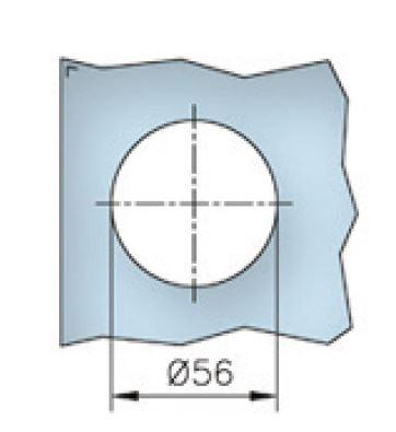 Maner scoica 65x65 mm, sticla 8-12 mm 1