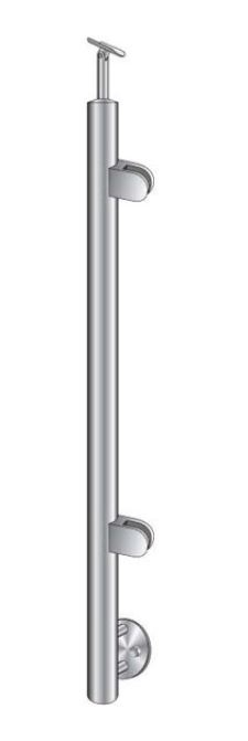 Montant de capat rotund echipat pentru sticla fixare pe laterala [0]