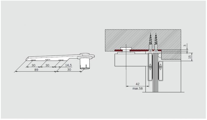 Pivot superior Dorma EA 1