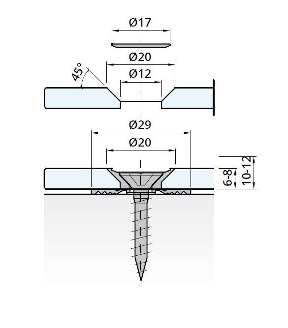 Prindere punctuala GM Pico, sticla 6-8 mm [1]