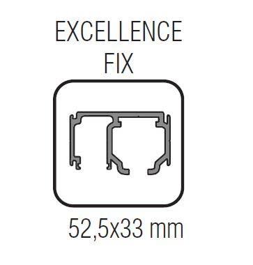 Profil glisare cu parte fixa Excellence EASY 80 1