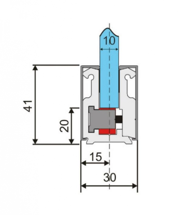 Profil perimetral sticla 10-12 mm 1
