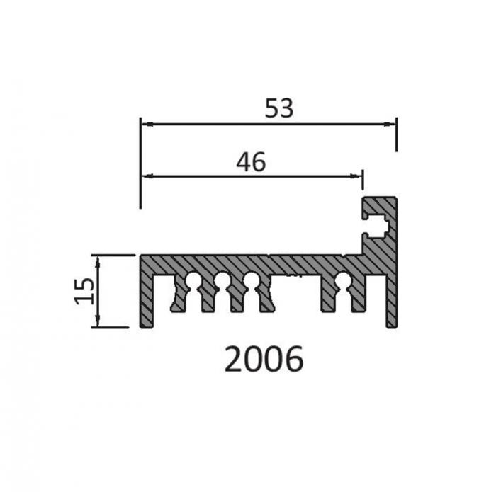 Profil toc zid usa sticla 8-10 mm 1