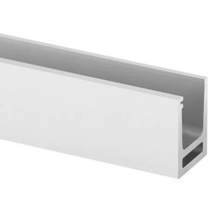 Profil U balustrada Easy Glass® Hybrid fixare pardoseala 0