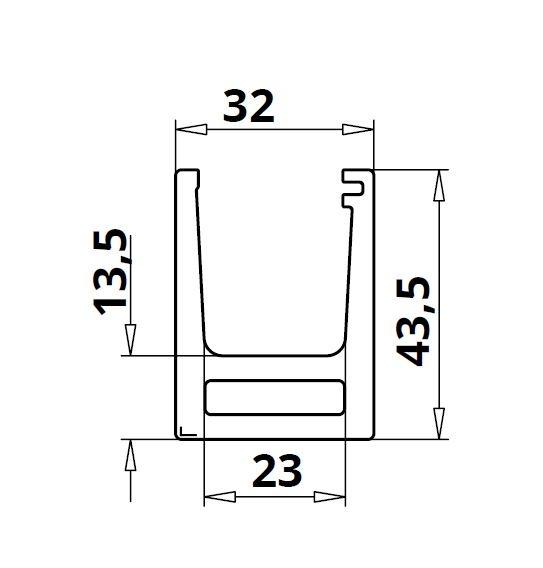 Profil U balustrada Easy Glass® Hybrid fixare pardoseala 1