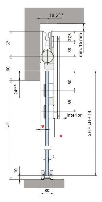 Set glisanta Dorma, RSP80 1 foaie mobila 1