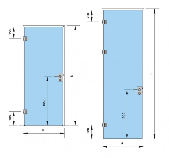 Set Dorma AT 44 inclusiv feronerie usa sticla 8-10 mm 2