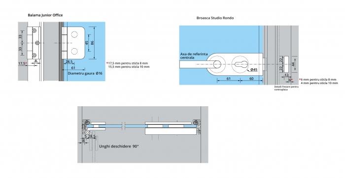 Set Dorma AT 23 inclusiv feronerie usa sticla 8-10 mm 3